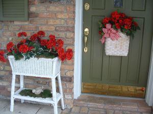 BEFORE - White Door Basket & Wicker Planter