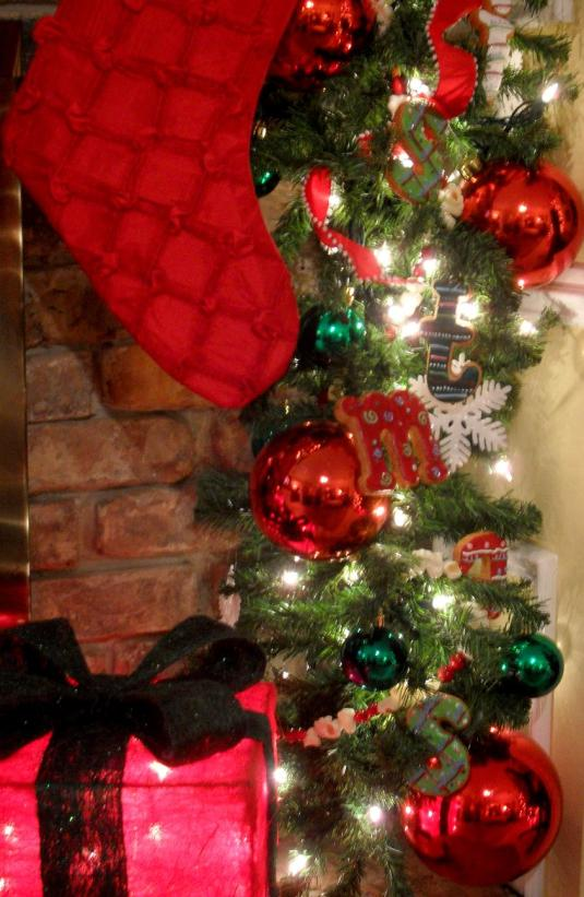 """Garland Closeup ~ """"Merry Christmas"""" spelled out in Frosted Cookies!"""