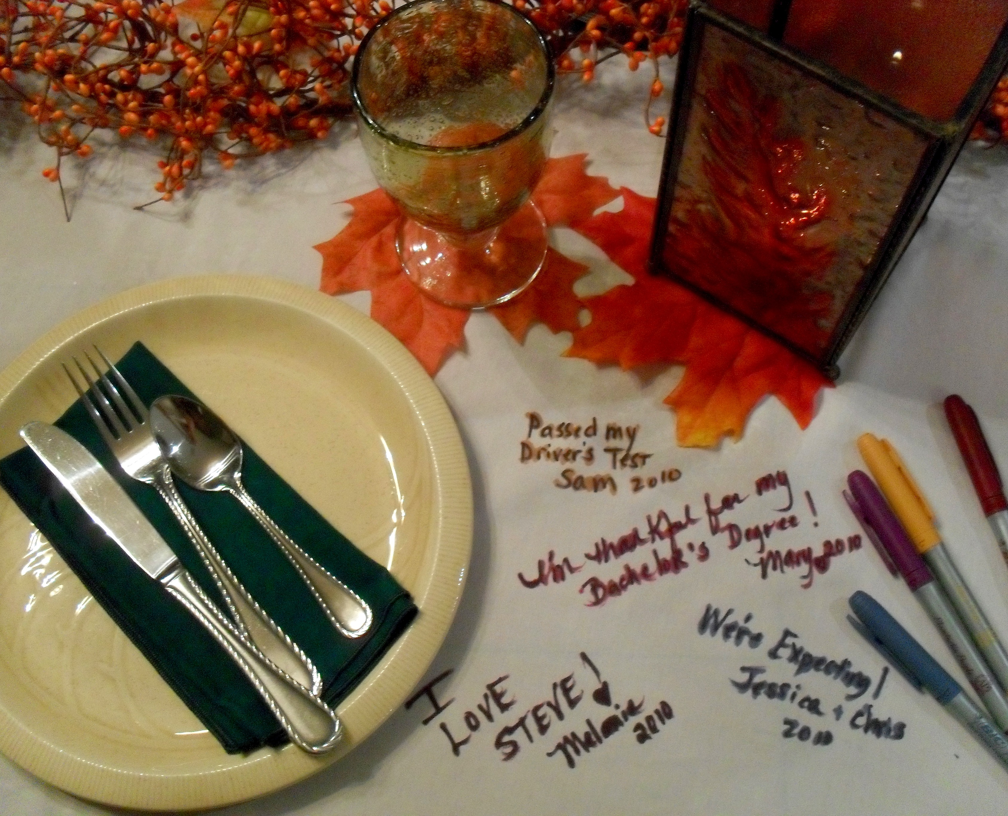 Thanksgiving Tablecloth Makes Memories The Seasonal Home - Thanksgiving-table-cloth