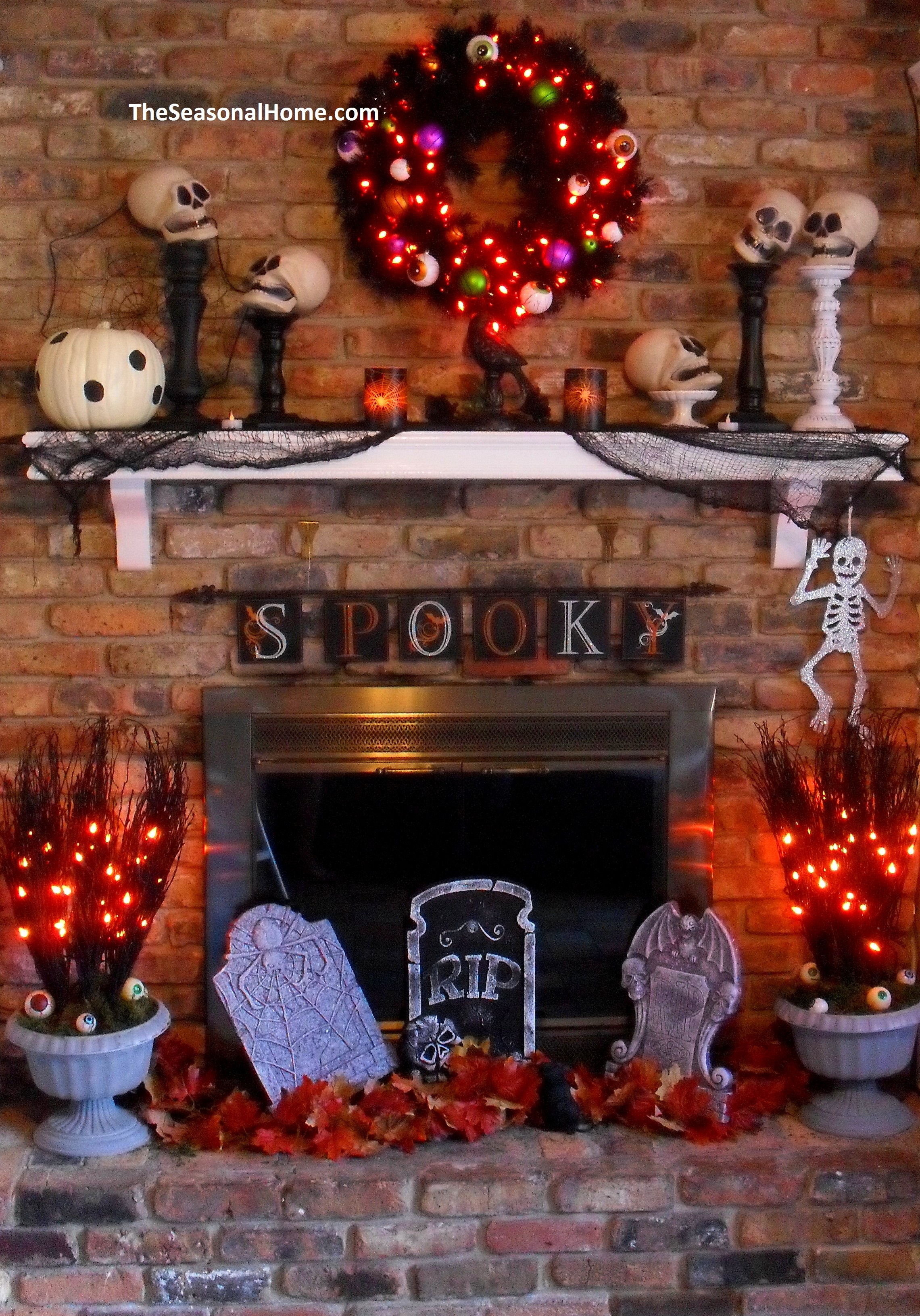 A Thrifty Decorating Theme For Halloween The Seasonal Home