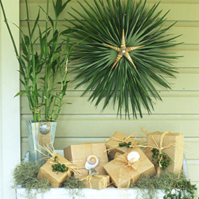 Tropical home decor on pinterest for Palm tree decorations for the home