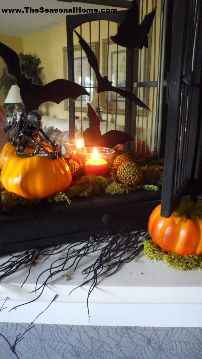 Spooky Halloween Fireplace 171 The Seasonal Home