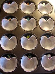 add a marble for heart shaped valentine cupcakes
