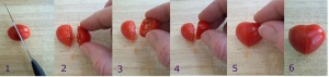 Valentine's Day Recipe - making heart tomatoes