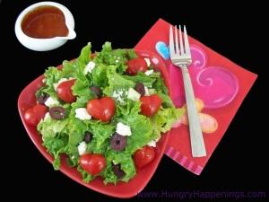 Valentine's Day Recipe - Salad with tomato hearts